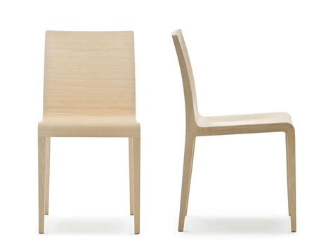 chaise pedrali 420 chair in curved plywood in several finishes