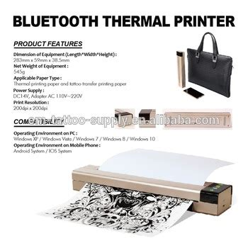 newest portable bluetooth thermal tattoo printer transfer