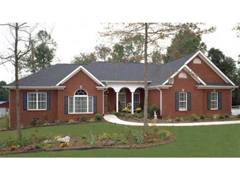 brick ranch style house plans painted brick ranch style houses large ranch home plans