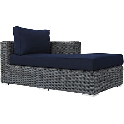 chaise navy summon outdoor patio sunbrella right arm chaise in canvas