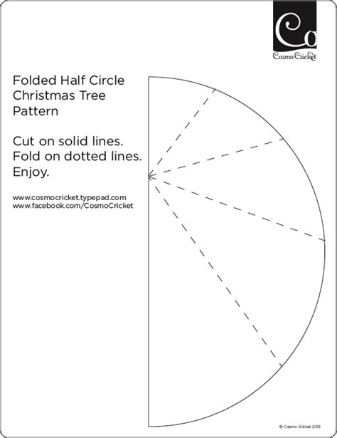 how to fold christmas trees from half circles cosmo cricket