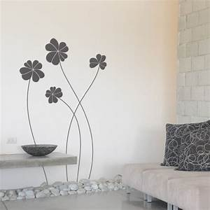 Wall decal elegant flowers giant