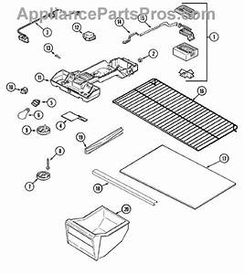 Parts For Magic Chef Ctb1722arw  Fresh Food Compartment