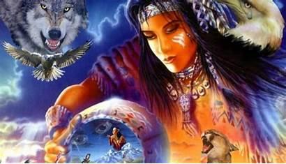 Native American Spirit Wolf Wallpapers Cool Wallpapersafari
