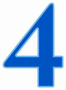 Number 4 Signssymbolalphabetsnumberscolornumbers