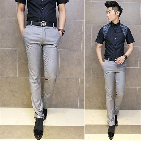 Grey Pants Outfit Men Casual