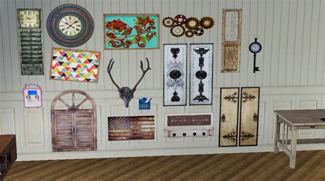 My little the sims 3 world: tencentsims: MISC WALL DECOR 15 presets, images... - Eris Sims 3 CC Finds