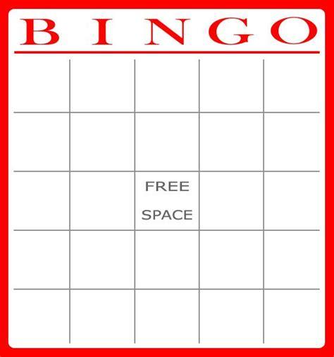 bingo card template word document free bingo card template bingo