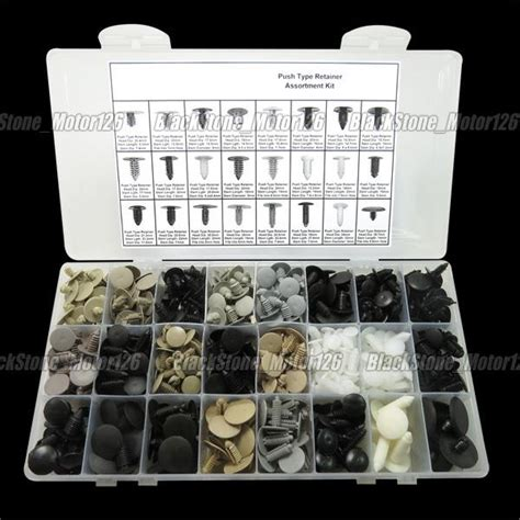 automotive fir tree retainers 587 auto push in fastener fir tree type retainers assortment fix kit ebay