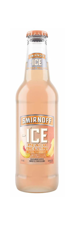 Smirnoff Ice Peach Bellini Malt Beverages Flavored
