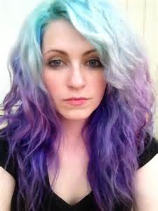 Red Blue and Purple Hair