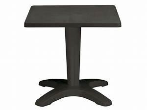 Petite Table De Jardin : table de jardin 70 cm zavor coloris anthracite conforama ~ Dailycaller-alerts.com Idées de Décoration
