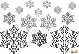 Snowflake Coloring Snowflakes Printable Adults Snow Colouring Preschoolers Printables Snowing Winter sketch template