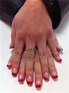 Modele French Manucure Fantaisie : ongles gel couleur rouge ~ Melissatoandfro.com Idées de Décoration