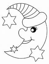 Moon Coloring Pages Printable Stars Phases Star Sun Preschoolers Bestfriend Sheet Sky Getcolorings Getdrawings Sheets Ninja Colorings Number sketch template