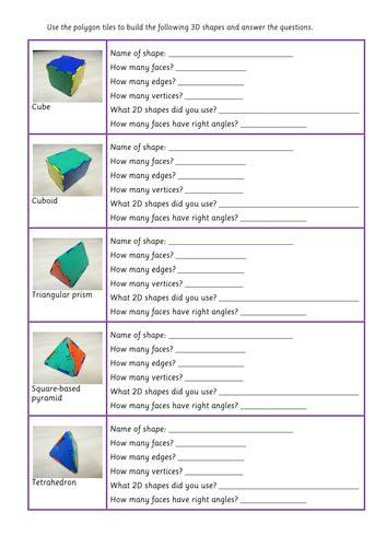 3d shape properties by julianne26 uk teaching resources