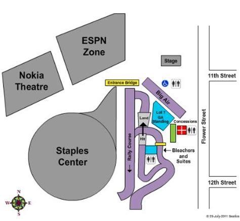 staples center parking lot   staples center
