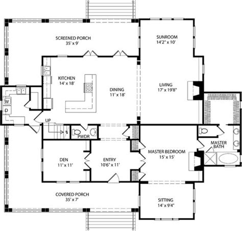 southern living floorplans double hearth cottage allison ramsey architects inc southern living house plans