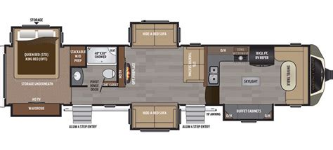montana 5th wheel floor plans 2017 keystone montana 3820fk cing world of macon