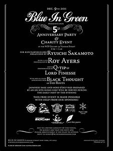 Blue In Green 5th Anniversary Party feat. Roy Ayers, Q-Tip ...