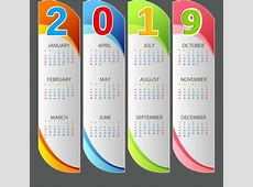 2017 2018 2019 calendar free vector download 1,633 Free