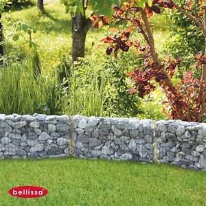 Terrasse Avec Muret : gabion muret 60 x 10 x 30 avec galets ~ Premium-room.com Idées de Décoration
