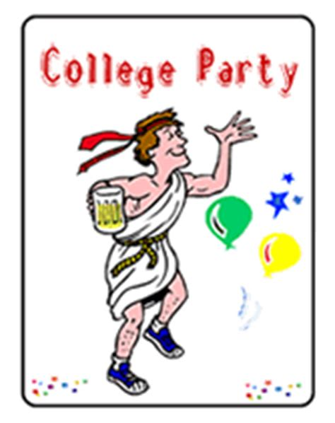 printable college party invitations