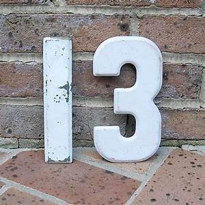 Vintage Metal Number 13 Chippy Painted Number 13 Sign Marquee