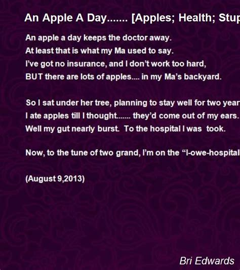 apple  day apples health stupid guy humor