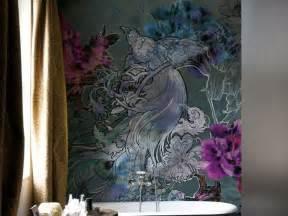Papier Peint Turquoise Fleur by Bathroom Mural Wallpaper Beautiful Designs By Wall Deco
