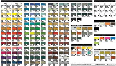 Vallejo Model Air Paint Color Chart