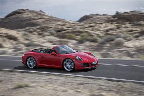red porsche 2016 2017 porsche 911 gets turbo engine apple carplay styling