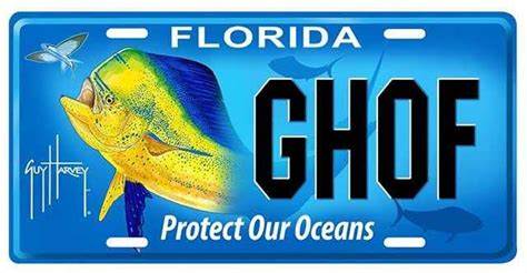 protect  oceans florida specialty license plate  support  guy harvey ocean foundation