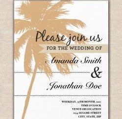sandy palm tree wedding invitation template