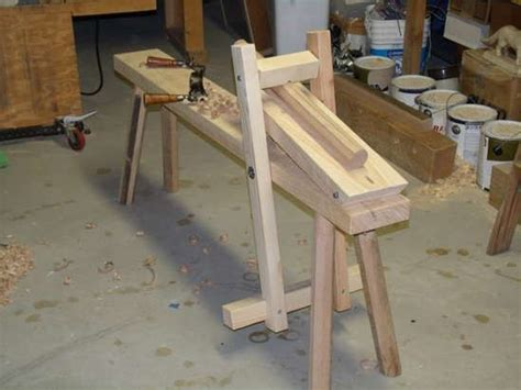 shaving horse plans green woodworking diy furniture