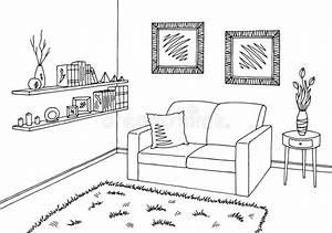 Living Room Clip Art Black And White | www.pixshark.com ...
