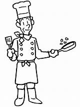 Helpers Chef Coloring Community Helper Cook Clipart Pages Master Colouring Drawing Printable Gardener Printables Fat sketch template