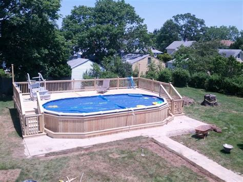 above ground oval pool deck pictures deck for 18x33 oval above ground pool search