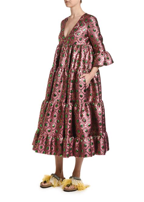 double  jennifer jane brocade dress bergdorf goodman