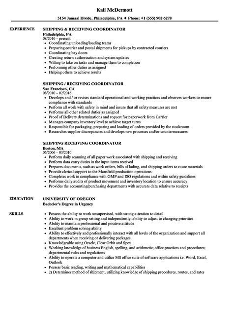 Shipping And Receiving Sample Resumes Clerk Cover Letter Dolap Magnetband Co