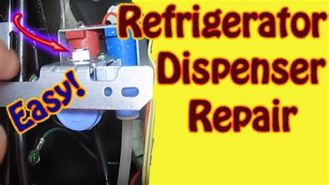 leaking water dispenser refrigerator repair water inlet valve replacement  water