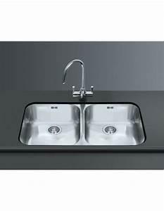 Smeg um4545 undermount large double kitchen sink for Alba sinks