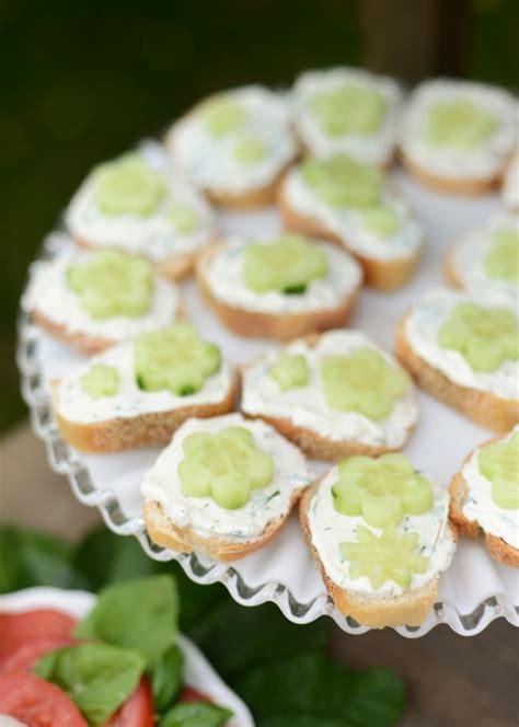 Open-Faced Cucumber Sandwiches