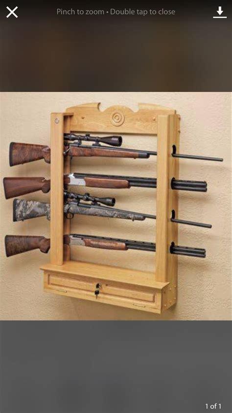 vertical gun rack ideas images  pinterest gun