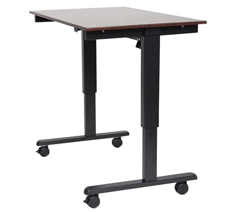 luxor 48 electric standing desk luxor luxor stande 48 bk dw standing desk at toolpan com