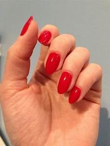Red almond nails. So classy - my favourite :) | Nails ...