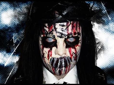 death mask slipknot joey jordison makeup tutorial