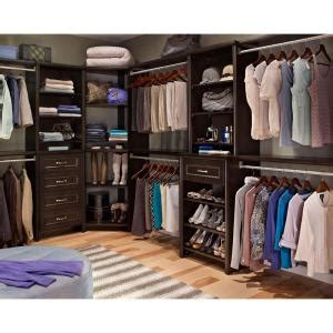 Closetmaid Closet System - closetmaid impressions 25 in chocolate deluxe hutch