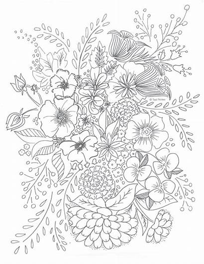 Coloring Pages Printable Flower Adult Relax Colouring