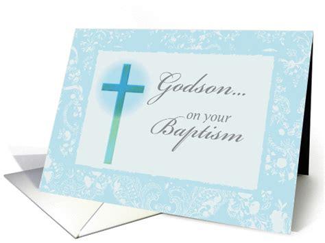 baptism congratulations  godson religious cross